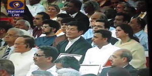 Sikyong Dr. Lobsang Sangay of the Central Tibetan Administration attended the swearing-in ceremony of Prime Minister Narendra Modi as an honored guest at the Rashtrapati Bhavan, 26 May 2014